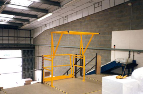 Mezzanine Pallet Gate : Mezzanine floor accessories rails gates new age services