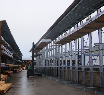 Outdoor Cantilever Racking Shelving Systems New Age